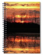 Rosy Mist Sunrise Spiral Notebook