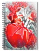 Rosy Swirl Spiral Notebook