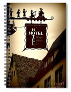 Rothenburg Hotel Sign - Digital Spiral Notebook