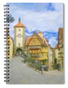 Rothenburg Watercolor Study Spiral Notebook