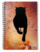 Rottie On Red Spiral Notebook