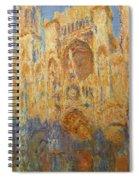 Rouen Cathedral, Facade, Sunset Spiral Notebook