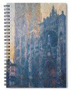 Rouen Cathedral, The Portal, Morning Spiral Notebook