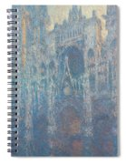 Rouen Cathedral, The Portal, Morning Light Spiral Notebook