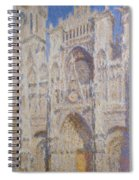 Rouen Cathedral, The Portal, Sunlight Spiral Notebook