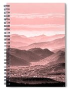 Rouge Hills Of The Tonto Spiral Notebook