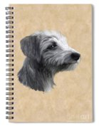 Rough Coated Lurcher  Spiral Notebook