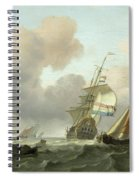 Rough Sea With Ships Spiral Notebook