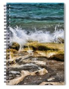 Rough Seas At Blowing Rock Spiral Notebook