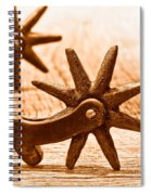 Rough Spurs - Sepia Spiral Notebook