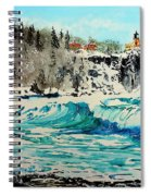 Rough Water At Split Rock Spiral Notebook