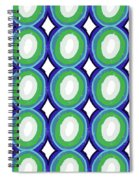 Round And Round Blue And Green- Art By Linda Woods Spiral Notebook
