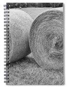 Round Hay Bales Black And White  Spiral Notebook
