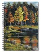 Round Pond Newbury Vermont Plein Air Spiral Notebook