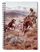 Round Up On The Musselshell  Spiral Notebook