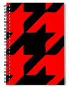 Rounded Houndstooth Black Background 02-p0123 Spiral Notebook