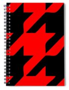 Rounded Houndstooth Black Pattern 02-p0123 Spiral Notebook
