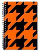 Rounded Houndstooth Black Pattern 03-p0123 Spiral Notebook