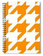 Rounded Houndstooth White Background 03-p0123 Spiral Notebook
