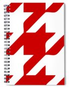 Rounded Houndstooth White Pattern 02-p0123 Spiral Notebook
