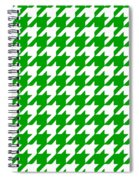 Rounded Houndstooth White Pattern 09-p0123 Spiral Notebook
