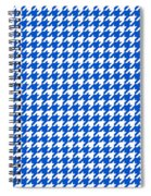 Rounded Houndstooth White Pattern 18-p0123 Spiral Notebook