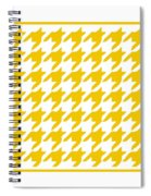 Rounded Houndstooth With Border In Mustard Spiral Notebook