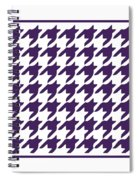 Rounded Houndstooth With Border In Purple Spiral Notebook