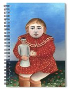 Rousseau: Child/doll, C1906 Spiral Notebook