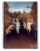 Rousseau: Football, 1908 Spiral Notebook