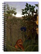 Rousseau: Lion Spiral Notebook