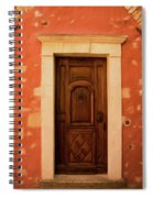 Roussillon Red And Door Spiral Notebook