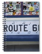 Route 66 Bench Spiral Notebook