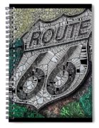 Route 66 Digital Stained Glass Spiral Notebook