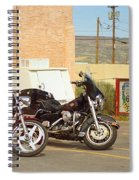 Route 66 - Grants New Mexico Motorcycles Spiral Notebook