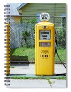 Route 66 - Illinois Gas Pumps Spiral Notebook