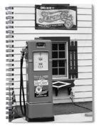 Route 66 - Illinois Vintage Pump Bw Spiral Notebook