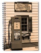 Route 66 - Illinois Vintage Pump Sepia Spiral Notebook