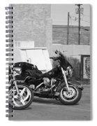 Route 66 Motorcycles Bw Spiral Notebook