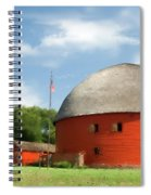 Route 66 Round Barn Spiral Notebook