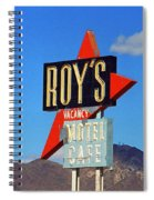 Route 66 - Roy's Of Amboy California Spiral Notebook