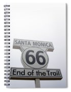 Route 66 Santa Monica- By Linda Woods Spiral Notebook