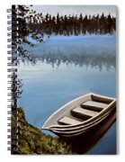 Row Boat In The Fog Spiral Notebook