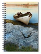 Row Boat On Shore Spiral Notebook