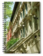 Row Houses In White Spiral Notebook