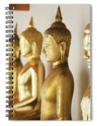 Row Of Buddhas Spiral Notebook
