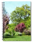 Row Of Flowering Trees Spiral Notebook