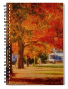 Row Of Maples Spiral Notebook