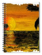 Row Of Palm Trees Spiral Notebook