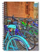 Row Of Student Bikes At Princeton University Nj Spiral Notebook